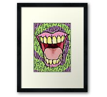 A Killer Joke - spiral Framed Print