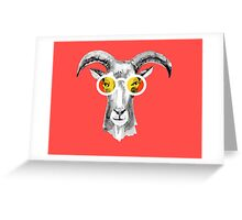 Goat Hipster Greeting Card