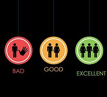 Bad, good and excellent - classy signs by Vitalia