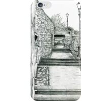 Dysart in Fife, Scotland Pencil Drawing: Architecture [Lane/Vennel/Thoroughfare] iPhone Case/Skin