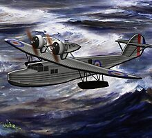 A Saro Cloud A29 of the Royal Air Force - all products except duvet by Dennis Melling