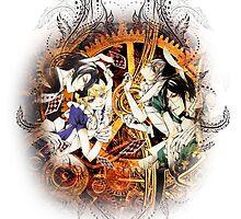 Kuroshitsuji (Black Butler) - Ciel, Sebastian, Claude and Alois [in Wonderland] by IzayaUke