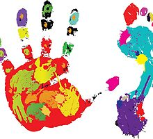 Color footprint and handprint by Vitalia