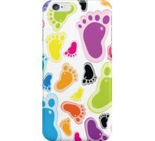 Color footprints iPhone Case/Skin