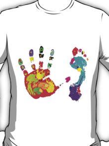 Color footprint and handprint T-Shirt