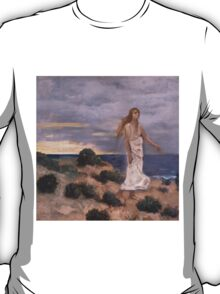 Woman on the Beach - Pierre Puvis de Chavannes T-Shirt
