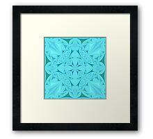 Light blue kaleidoscopic triangles Framed Print