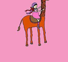 giraffe and girl by MedusasCousin