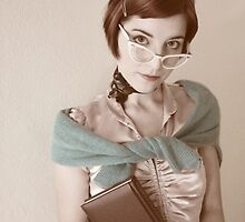 Self portrait - 50's Bookworm by Lunchbox