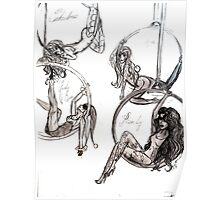 Comicwomen circus enchantress mystique poison ivy & Harley Quinn Poster