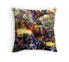 the hero are back Throw Pillow