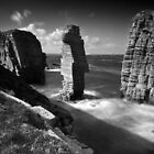 Sea Stacks at Castle Sinclair Girnigoe by Roddy Atkinson