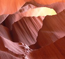 Antelope slot canyon view by al holliday