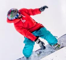 Snowboarder flight Sticker