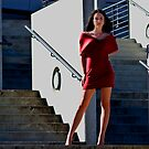 Fashion shot of Chloe Jane Telstra Dome Steps by Tony Lin