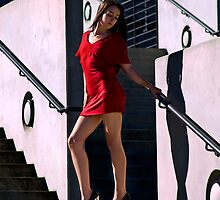 Fashion shot of Chloe Jane Telstra Dome Steps Aspect 2 by Tony Lin