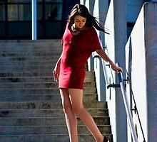 Fashion shot Chloe Jane Telstra Dome Aspect 3 by Tony Lin