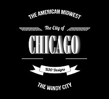 Chicago - The Vintage Windy City Typography Skin Mug by Givens87