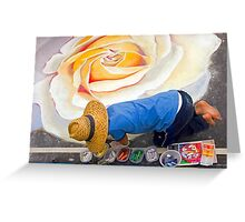 Imadonnari Italian street painting festival.  Santa Barbara, California Greeting Card