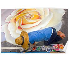 Imadonnari Italian street painting festival.  Santa Barbara, California Poster