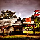 old gas station by A.R. Williams