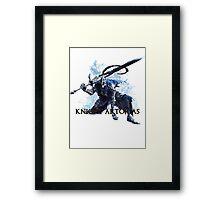 Artorias out of the abyss! - Knight Artorias Text Framed Print