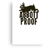 Abbott Proof Canvas Print