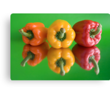 color peppers Canvas Print