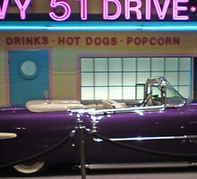 Elvis' Purple Cadillac Eldorado by Christina Reid