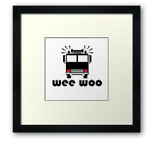 Firetruck Wee Woo Framed Print