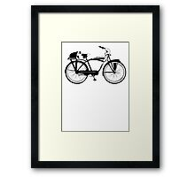 Badger On A Bicycle Framed Print