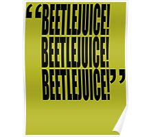 movie quotes: beetlejuice (title spelling) Poster