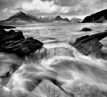 Storms of Elgol  (BW) by Angie Latham
