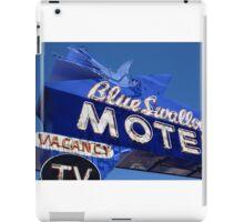 Route 66 - Blue Swallow Motel Neon iPad Case/Skin