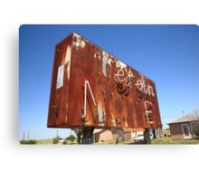 Route 66 - Western Motel Neon Canvas Print