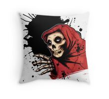 CRIMSON GHOST COLORED Throw Pillow