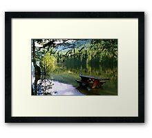 Blue Jays & Picnic Table Framed Print