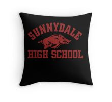 Sunnydale High Razorbacks Throw Pillow