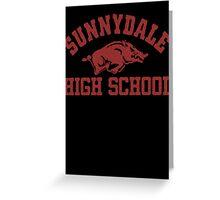 Sunnydale High Razorbacks Greeting Card
