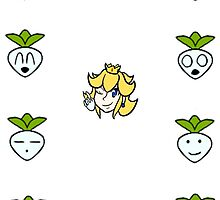 Super Smash Brother: Peach Turnip Variations by Kittyfries