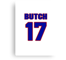 National baseball player Butch Wensloff jersey 17 Canvas Print