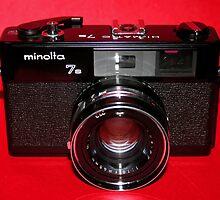 Black Rangefinder Camera by wayneyoungphoto