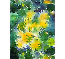 Welcome Spring Abstract Floral Digital Watercolor Painting 3 Photographic Print