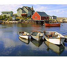 Boats on Peggy's Cove, Nova Scotia Photographic Print