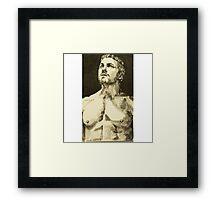 Stephen Amell, the green Arrow Framed Print