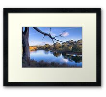 Overlooking the lake at Oakbank Framed Print
