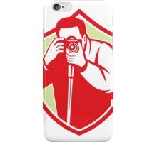 Photographer Shooting Camera Shield Retro iPhone Case/Skin