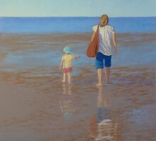 """My Girls Summer 2011"" Pastel Painting by Alison Murphy"