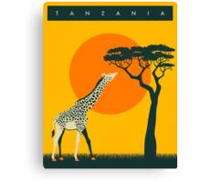 TANZANIA Travel Poster Canvas Print