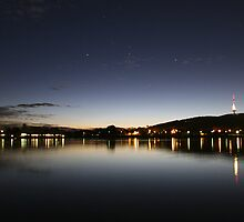 By Night Lake Burleigh Griffin, Canberra by Derek Andersen Photography